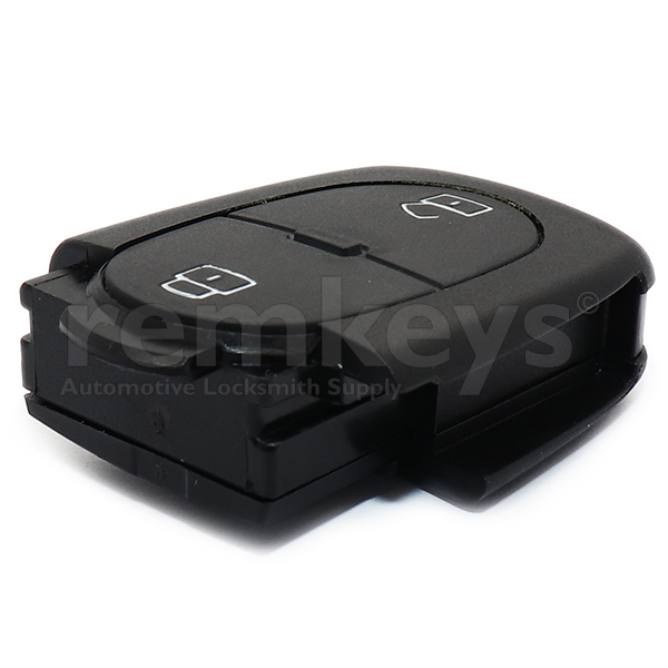 Audi 2Btn Remote Case (Round) - Big Battery