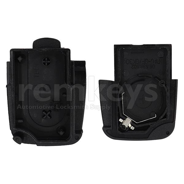 Audi 2Btn Remote Case (Round) - Big Battery