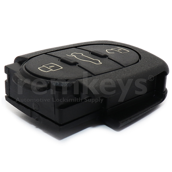 Audi 3Btn Remote Case (Round) - Big Battery