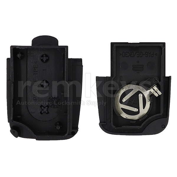 Audi 3Btn Remote Case (Round) - Small Battery