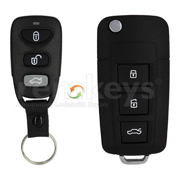 Hyundai External 3 Button Conversion Case