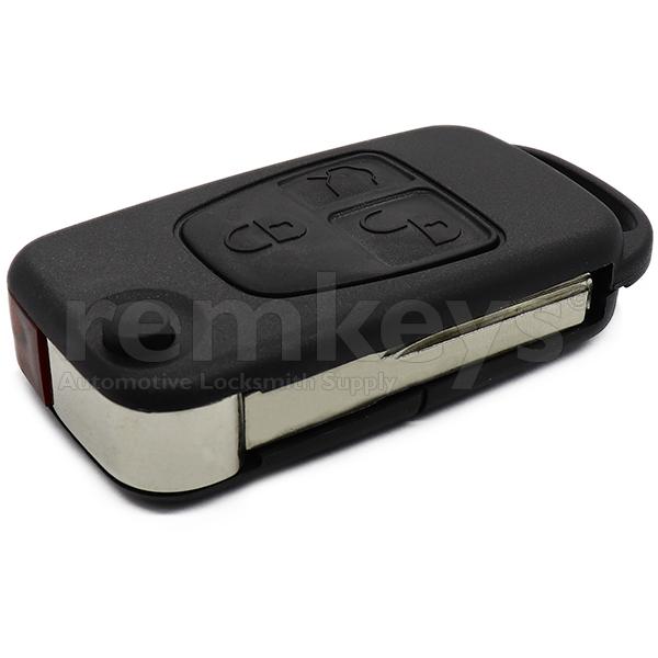 Mercedes 3 Button Flip Remote Case