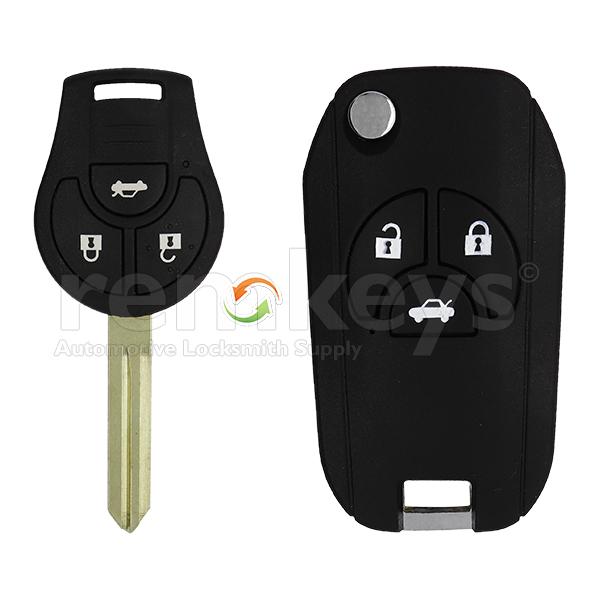 Nissan 3 Button Conversion Remote Case
