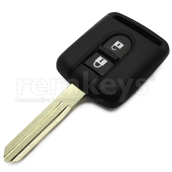 Nissan 2 Button Remote Case-Square
