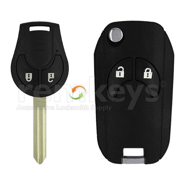 Nissan 2 Button Conversion Remote Case