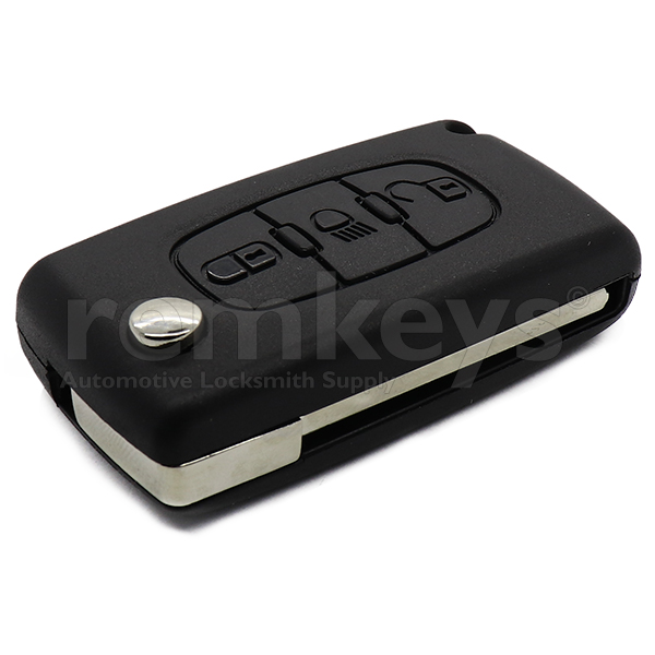 PSA 3Btn Flip Remote Case-Head Lamp Button