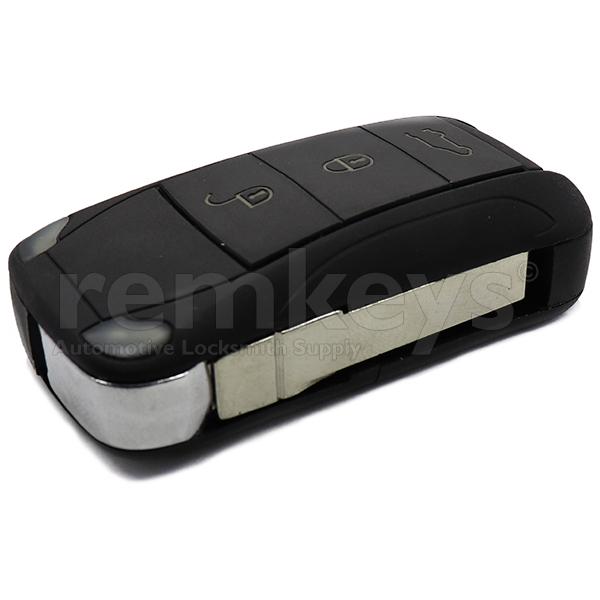 Porsche 3 Button Flip Remote Case