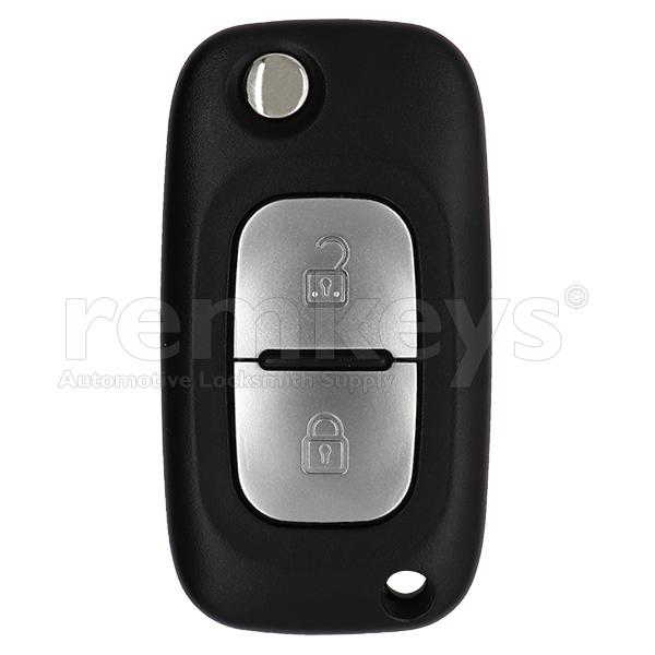 Renault Clio3 2 Button Flip Remote Case