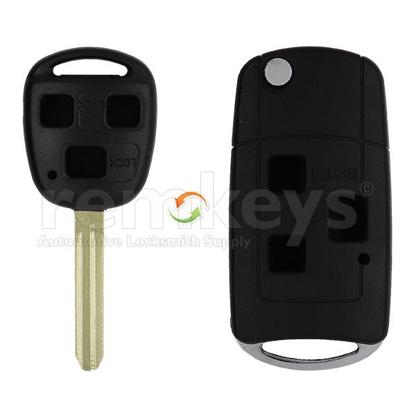 Toyota 3 Button Conversion Remote Case
