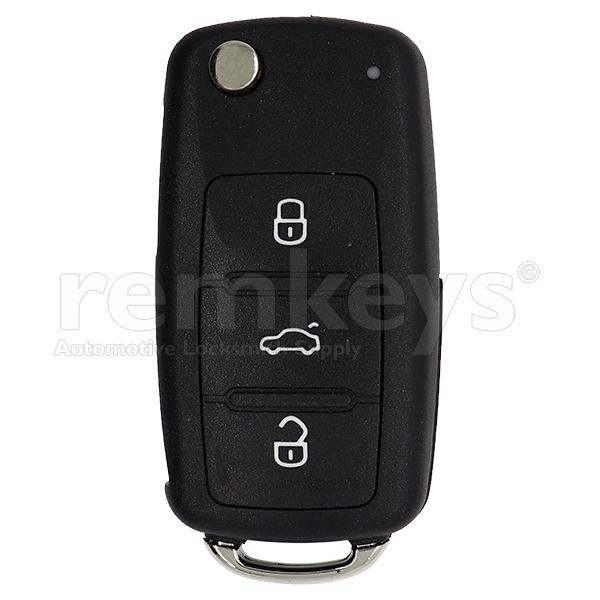 VAG UDS 3 Button Flip Remote Case