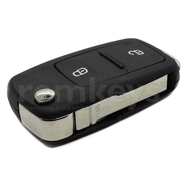 VAG UDS 2 Button Flip Remote Case