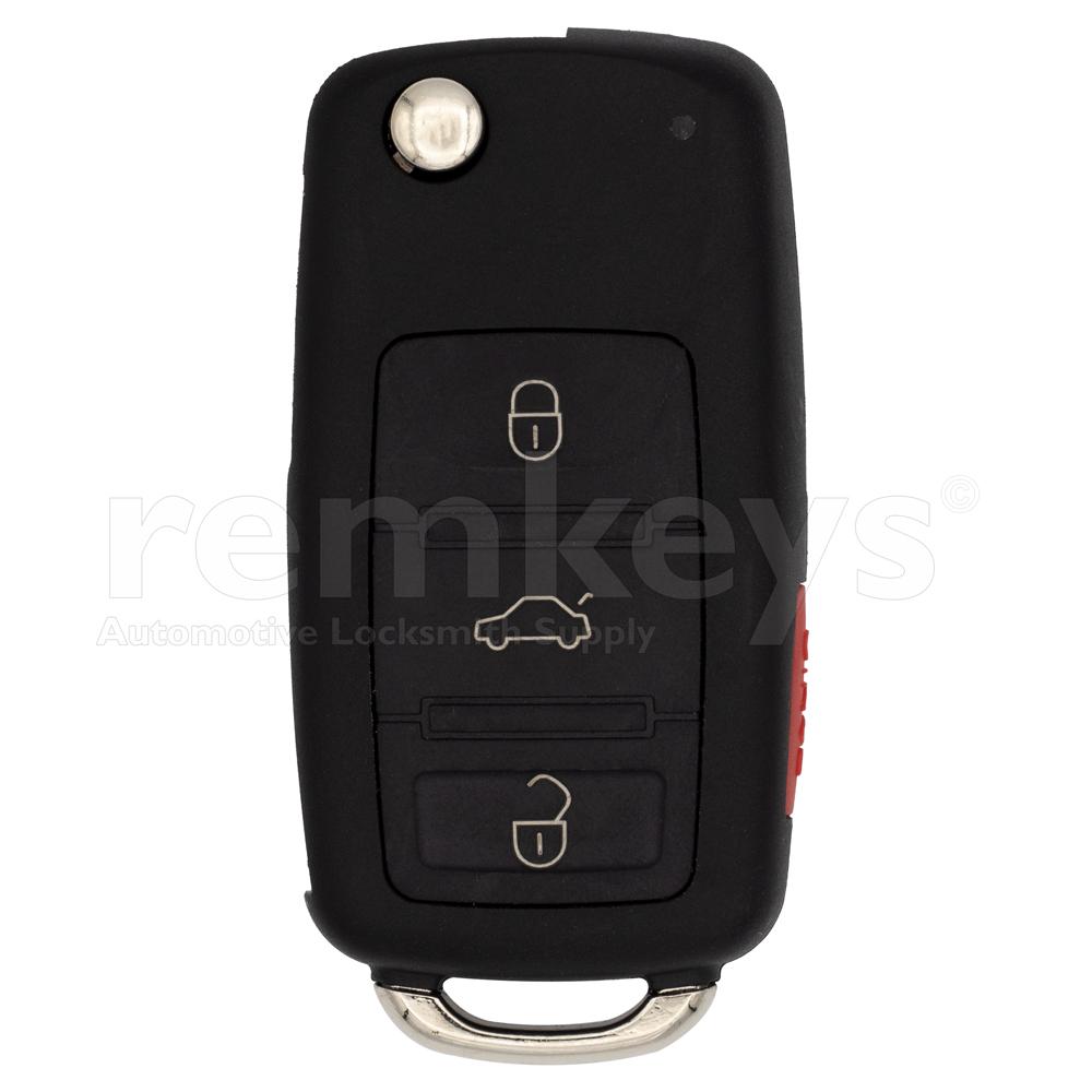 VW Touareg 3+1 Button Flip Remote Case