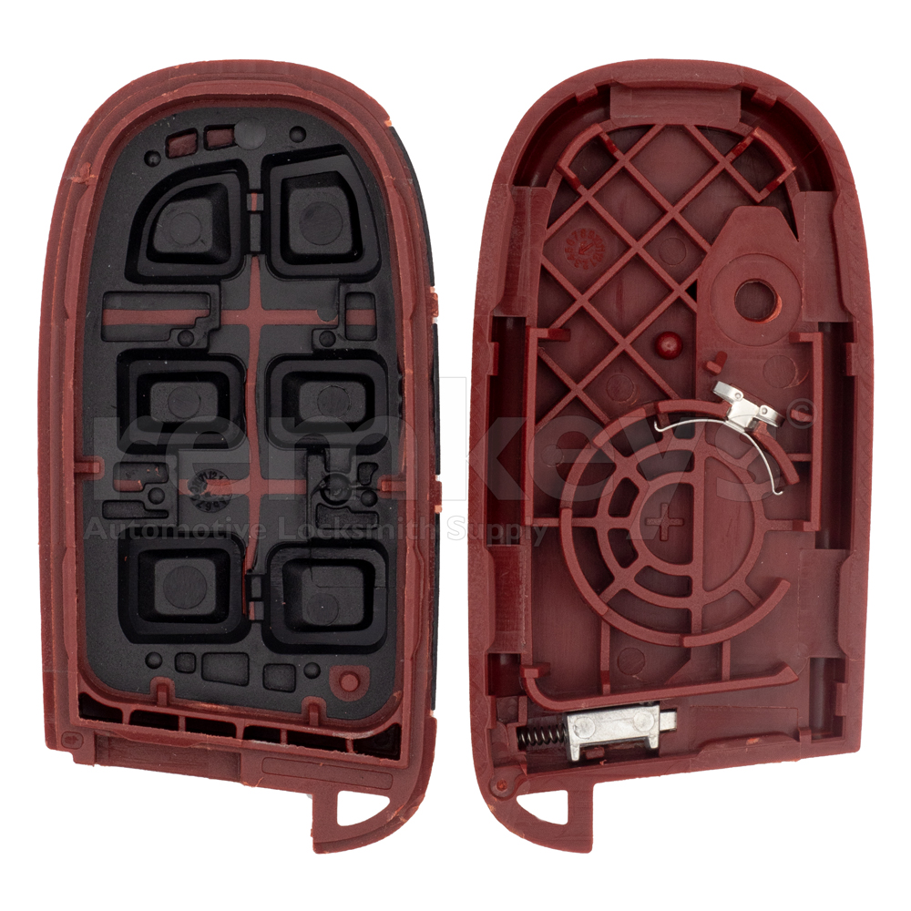 Chrysler 4+1Button Smart Remote Case Red