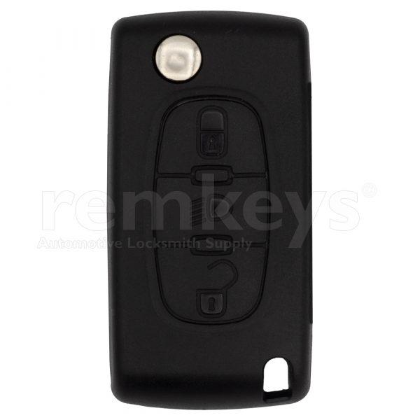 PSA 3Btn Flip Remote Case-Head Lamp Button Oem