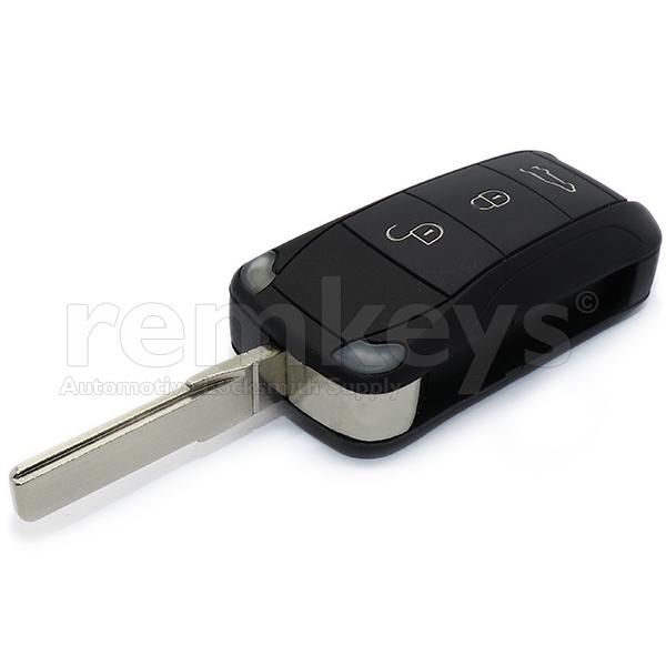 Porsche Cayenne 3Btn Flip Remote Pcf7946 433mhz
