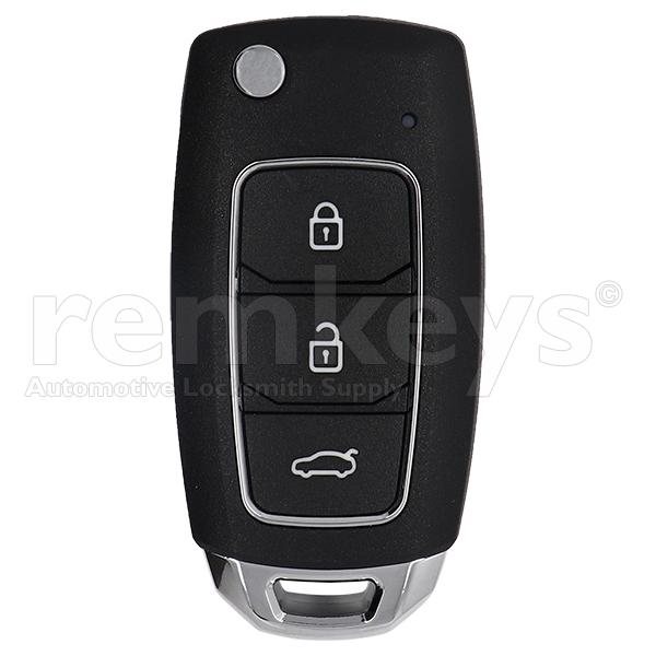 XKHY05EN – Hyundai Type 3Btn Flip Wire Remote
